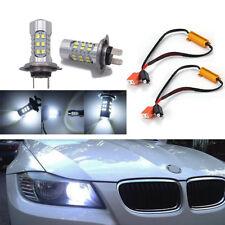 2 PCS Super Bright H7 White LED Bulbs + Decoder for Car Daytime Running Light
