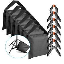 Neewer Kit 6 Sacchi di Sabbia VUOTI con 6 Clip a Molla per Cavalletti Sfondi