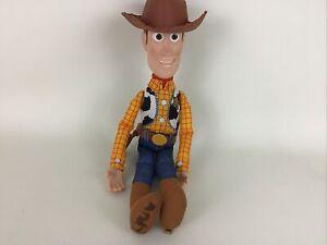 "Disney Pixar Toy Story 4 Sheriff Woody Soft & Huggable 15"" Talking Plush Stuffed"