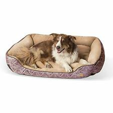 """New listing K&H Pet Products Self-Warming Lounge Sleeper Dog Bed Large 32"""" x 40"""" Brown Pa."""