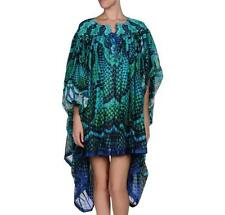 (Roberto) Just Cavalli Print Dress Top Blouse Kaftan Cape UK8-10 IT40 New