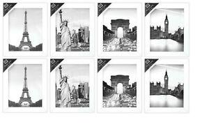 """[Set of 6] White 8""""x10""""/20.25cm x 25.5cm Wooden Photo Frame Wall Mountable"""