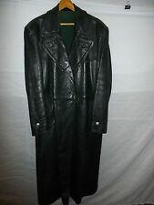 zg9 WWII German Leather Overcoat Size 38 Length 51