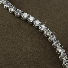 18k white gold gf made with SWAROVSKI crystal beaded chain bracelet