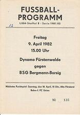 DDR-Liga 81/82 BSG Bergmann Borsig Berlin - Dynamo Fürstenswalde 09.04.1982