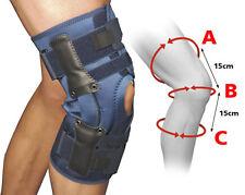 Large Adjustable Fold Over Hinged Knee Brace Support Latex Free