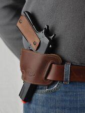 """Barsony Brown Leather Slide Gun Holster for Beretta PX4 Storm 4"""" 9 40 45 Pistol"""