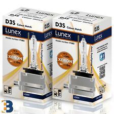 2 x D3S Genuine LUNEX BULB PK32d-5 XENON Original 35W 4300K DuoBox