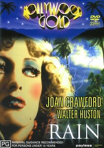 365A NEW SEALED JOAN CRAWFORD WALTER HUSTON RAIN DVD Region 4