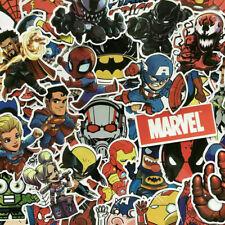 100Pcs Vinyl Marvel Super Hero Stickers Pack Skateboard Luggage Laptop Decal Lot