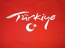 NEW TURKEY TURKIYE T Shirt Sz Large L 100% Cotton NEW Tstoria Brand
