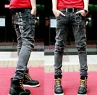 01 Vogue Mens Boys Casual Skinny Slim Denim Pants Pencil Jeans Trousers 28-34