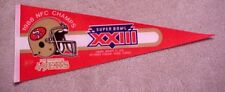 1989 SB 23 SAN FRANCISCO 49ERS GAME DAY Pennant UNSOLD