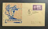 1945 VJ Day Illustrated Patriotic Cover St Petersburg Florida