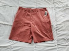 Men's Izod Mainfloor Shorts Size 36 Nantucket Red Flat Front Casual