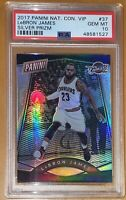 💎2017 LeBron James NATIONAL CONVENTION VIP SILVER PRIZM REFRACTOR 37 PSA 10 BGS