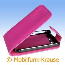 Flip Case Etui Handytasche Tasche Hülle f. HTC Desire S (Pink)