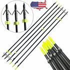 34'' Archery Solid Fiberglass Bowfishing Arrow Broadheads Bow Fishing Hunting US