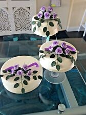 WEDDING CAKE SUGAR ROSES IN LILAC SET OF THREE MOST COLOURS AVAILABLE 4 F