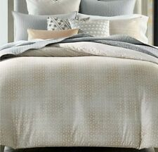 Hotel Collection Bedford Geo King Duvet Color Grey/Neutral