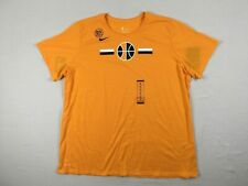 NEW Nike Utah Jazz - Women's Yellow Dri-Fit Cotton Short Sleeve Shirt (3XL)