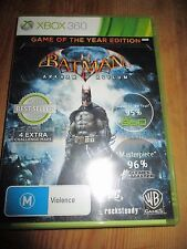 Pre-owned Xbox 360 Batman Arkham Asylum Game of the year edition Manual  GC