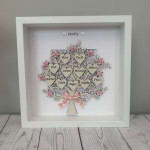 Christmas Gift Grandchildren Personalised Family Tree Frame Handmade