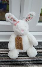 Next white floral flower ears Bunny Rabbit Soft Hug Toy Beanie my best friend