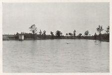 D1778 Parma - Noceto - Il laghetto Tilla - Stampa antica - 1934 old print