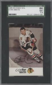 1988-89 ESSO NHL All-Star Collection Stan Mikita SGC 86 HOF