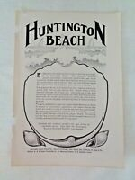 1905 Huntington Beach city Southern California real estate Realty print ad farms