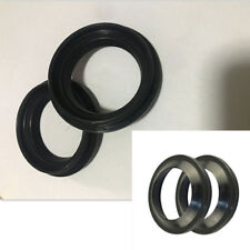 4Pcs 41x54x11mm Motorcycle ATV Front Fork Damper Oil & Dust Seal Ring Kit Black