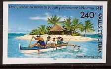 Wallis Futuma Isl 1994 Boat Imperf Sc # C188a Mnh