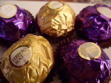Purple and Gold Wedding Ferrero Rocher 24 pieces 300g chocolate coated nuts