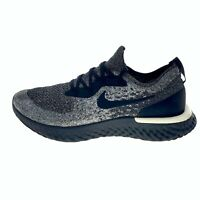 Nike Mens Epic React Flyknit AQ0067-011 Lace Up Black Running Shoes Size US 10.5