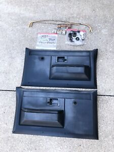 1981-1987 Chevy C10 K10 GMC Truck Scottsdale Sierra Cheyenne Door Panels - Black