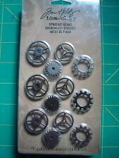 Tim Holtz idea-ology Sprocket Gears Advantus Scrapbook Vintage Steampunk TH92691