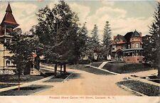 CORTLAND NEW YORK PROSPECT ST CORNER AT HILL STREET POSTCARD 1909