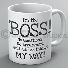 I'm The Boss We'll Just Do Things My Way Mug Funny Joke Bossy Manager Work Gift
