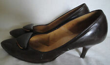 Vintage Brown Shoes High Heel 50s Socialites Leather 5 B