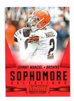 Johnny Manziel 2015 Panini Score, Sophmore Selections, (Red), Football Card !!