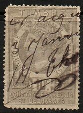 France, 10c bister fiscal/revenue stamp used.