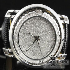 BLINGMASTER ROTATE FLIP REVERSIBLE WATCH BLACK & WHITE ICED OUT NEW WATCH MEN'S