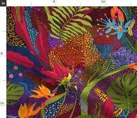 Tiki Bird Paradise Tropical Hawaii Big Island Spoonflower Fabric by the Yard