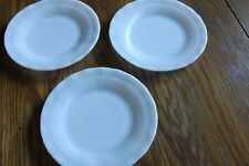 Vintage Mac-Beth Evans OXFORD Opalescent White Bread /Cake plates. set of 3