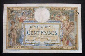 "100 Francs  ""Luc Olivier Merson"" avec LOM 02 - 30 avril 1909"