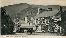 UK Coniston - Crown Hotel & Old Man old postcard