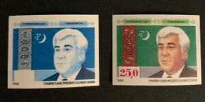 N2/89 Turkmenistan Stamp 1992 Double Errors MNH A Great Collection