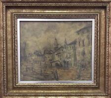 Original Vintage Croatian Emanuel Vidović Impressionism Framed Art Painting #3
