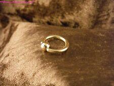 Piercing 24 Karat Gold Klemmring Septum Intim Lippenring Ohr Lippenbändchen